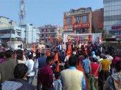 Rajputs protest in Delhi against Padmavati