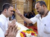 Rahul's media coordinator wrote his name in non-Hindu register: Temple