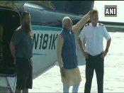 Modi reaches Dharoi Dam in seaplane, visits Ambaji temple