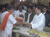 Rahul Gandhi flags off Gujarat tour, offers prayers at Somnath temple
