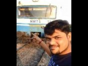 Hyderabad: Man attempts to take selfie in front of a speeding train, gets critically injured