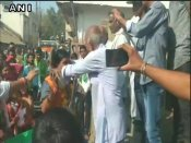 A 'garland of shoes' welcome for BJP candidate in Madhya Pradesh