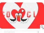 Google celebrates Valentine's day with Winter Olympics doodle