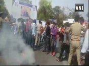 Jinnah portrait row: Hindu Yuva Vahini protests at AMU, police lob tear gas shells
