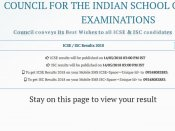 ICSE ISC results 2018 declared, how to check