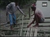 A bridge over Kalahi river in Assam becomes symbol of resilience of villagers against govt's apathy