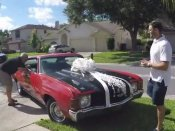 Son gifts father something he always dreamed of owning, on his birthday