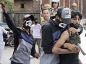 To nab the real culprits, cops disguised themselves as stone pelters