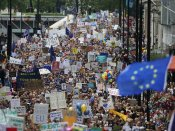 Five months before Brexit, protest march in London seeking fresh voting