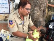 Hyderabad: Cop lulls baby to sleep as mother takes examination