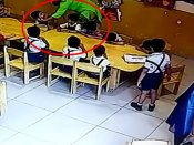 Video: Schoolteacher puts cello tape on 4-year-old kids' mouths in class to stop them from talking