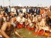 Amit Shah takes holy dip at Prayagraj Kumbh mela
