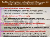10 major events that had significant effect on India-Pakistan ties