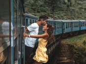 Instagram Couple slammed for dangerous photo shoot outside moving train in Sri Lanka