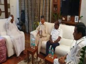 Ahead of big day, Chandrababu Naidu meets Deve Gowda, Kumaraswamy