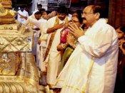 Venkaiah Naidu seeks Lord Venkateswara's blessings