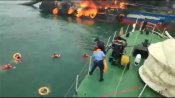 Massive fire engulfs Coast Guard's vessel 'Coastal Jaguar', 1 dead,1 missing, 27 rescued