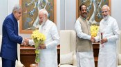 WB Guv Jagdeep Dhankar & Jh'khand CM meet PM Modi