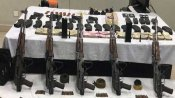 Satellite phone, huge cache of arms seized in militant hide-out bust