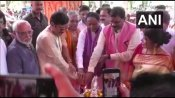 WB BJP top brass Dilip Ghosh, Mukul Roy chief guests at TMC MLA's Ganesh Puja