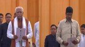 UPDATES: PM Modi wishes Khattar, Dushyant Chautala after oath-taking ceremony