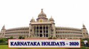 2020 list of holidays in Karnataka