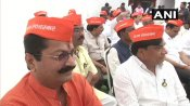 BJP MLAs wear 'I am Savarkar' caps in protest against Rahul Gandhi's remarks