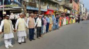 620 km human chain formed demanding withdrawal of new citizenship law