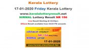 Kerala Nirmal NR-156 Lottery results LIVE, now