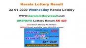 Kerala Lottery Akshaya AK-429 today lottery result LIVE, now