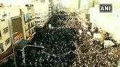 Massive crowds on the streets of Tehran for the funeral of Qasem Soleimani