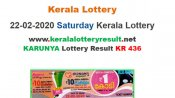 Kerala Lottery Karunya KR-436 today lottery result LIVE