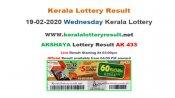 Kerala Lottery Akshaya AK-433 today lottery result LIVE