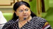 Former Rajasthan CM Vasundhara Raje in self-quarantine along with son