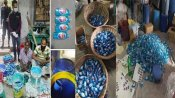 Fake: These fake hand sanitisers were seized in Bangladesh, not India