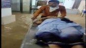 Watch: Rainwater enters emergency ward of COVID-19 hospital in Jalgaon, 7-8 patients evacuated