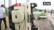 Vikas Dubey killed: Convoy vehicle overturned due to heavy rains