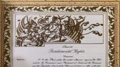 Felt like sharing it: An image of Lord Ram in the Indian Constitution