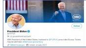 'No time to waste': Joe Biden posts first tweet as US President