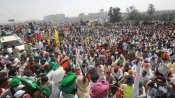 Protesting farmers show black flags to BJP MP in Haryana