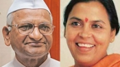 While Anna goes on, Uma Bharti breaks three-month-old fast