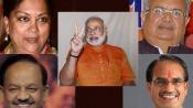 BJP bags MP, Rajasthan & Chhattisgarh