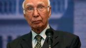 Gen Sharif can't be recalled from Saudi Arabia: Sartaz Aziz