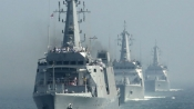 President Pranab all set to review naval fleet today in Vizag