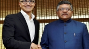 Nadella, IT min discuss rural digital programme