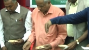 Meat consumed at Kala Mandir: BJP workers 'purify' building with cow urine