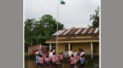Assam: The floods didn't deter them from saluting the Tricolour