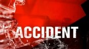 Uttar Pradesh: Four dead as bus dashes into divider, catches fire