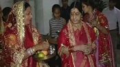 Check out how Sushma Swaraj celebrated Karva Chauth