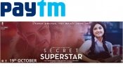 Aamir Khan's 'Secret Superstar' Get Upto Rs. 200 Cashback via Paytm now!